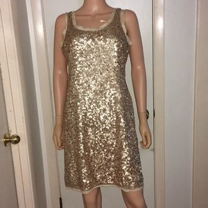 Sequin Gold Dress by Talbots